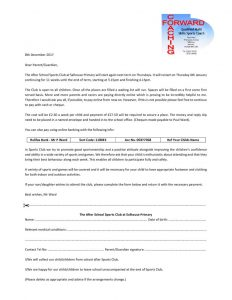thumbnail of Thursday Sports Club Letter 0118
