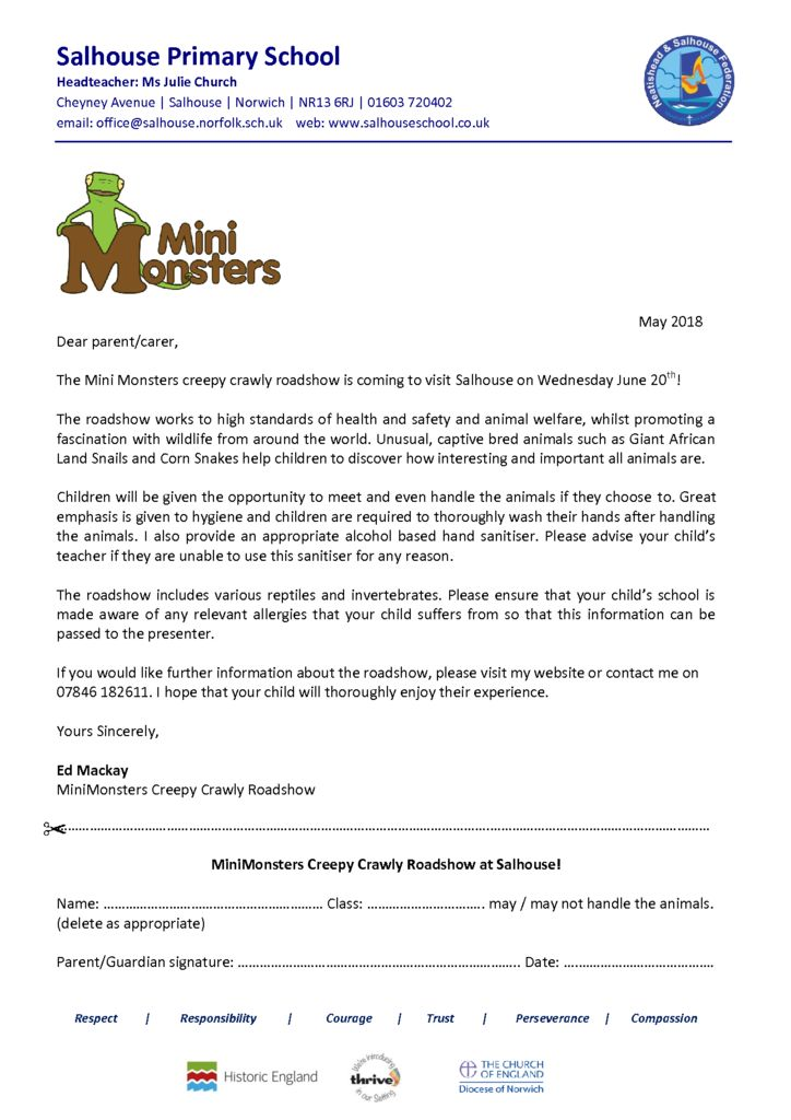 thumbnail of Mini Monsters Permission Letter