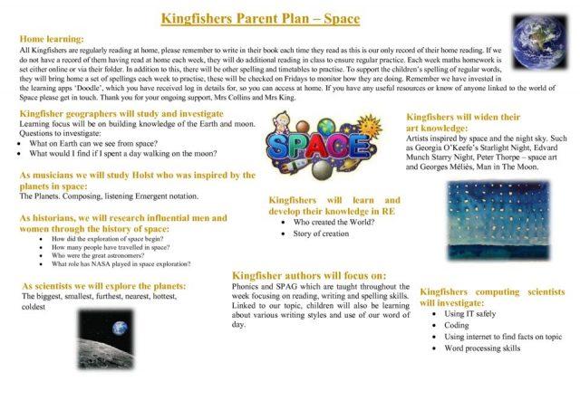 thumbnail of Kingfishers Autumn parent plan 2019
