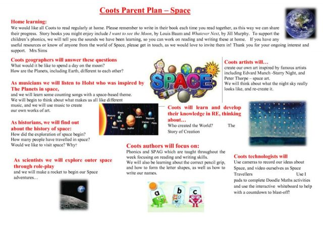 thumbnail of Space Coots topic plan for parents