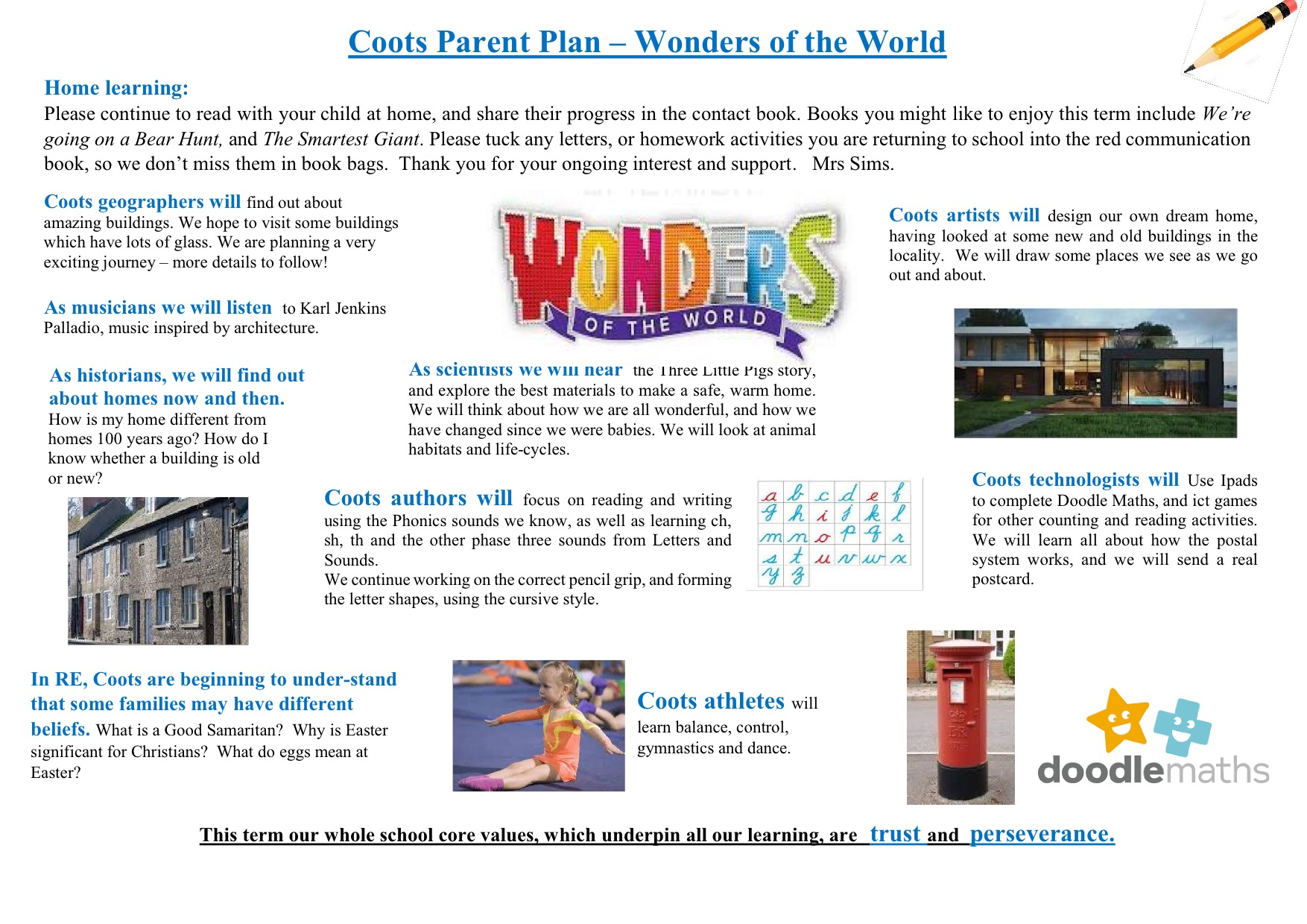 WotW Coots topic plan for parents