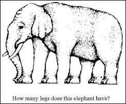 How many legs does this elephant have? The latest optical illusion ...