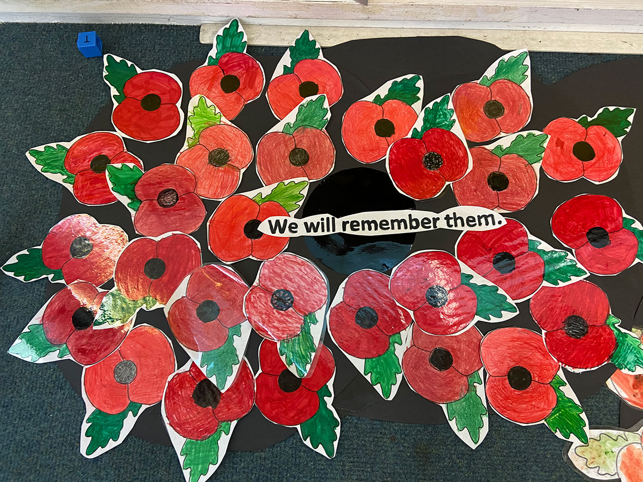 Kingfishers remembrance wreath